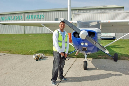 Akeel with Cessna C-172