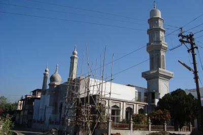 Construction work on Jumma Masjid